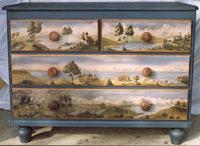 Atelier du bertou peinture sur bois - Peinture decorative meuble bois ...